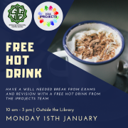 free hot drink stall