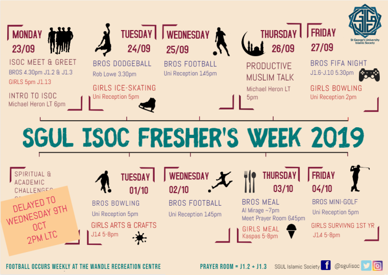 ISoc Freshers Poster 2019