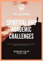 Spiritual and Academic Challenges