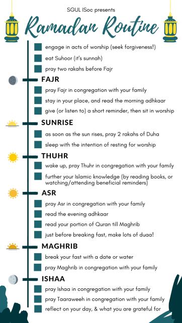 Ramadan Routine
