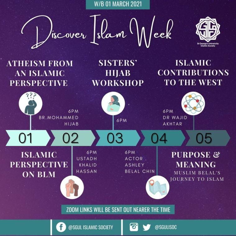 Discover Islam Week Timeline